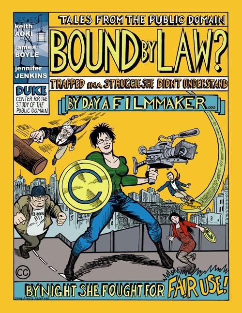 杜克大學法學教授 Keith Aoki 用以討論走火入魔智財權的漫畫 Tales from the Public Domain: BOUND BY LAW?