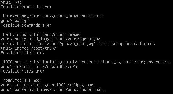在 grub 開機畫面按 「c」 進入命令列模式。