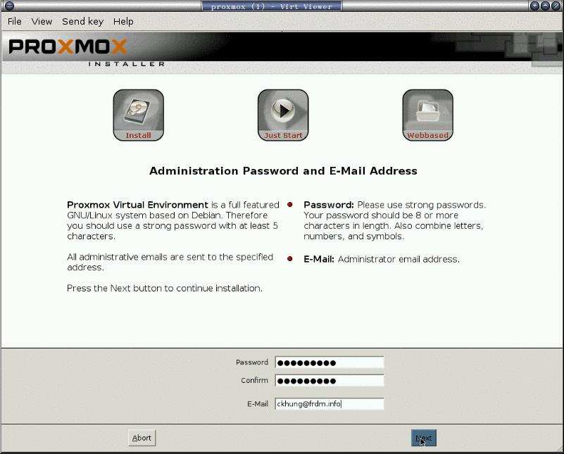 安裝 proxmox: 5. 設定密碼