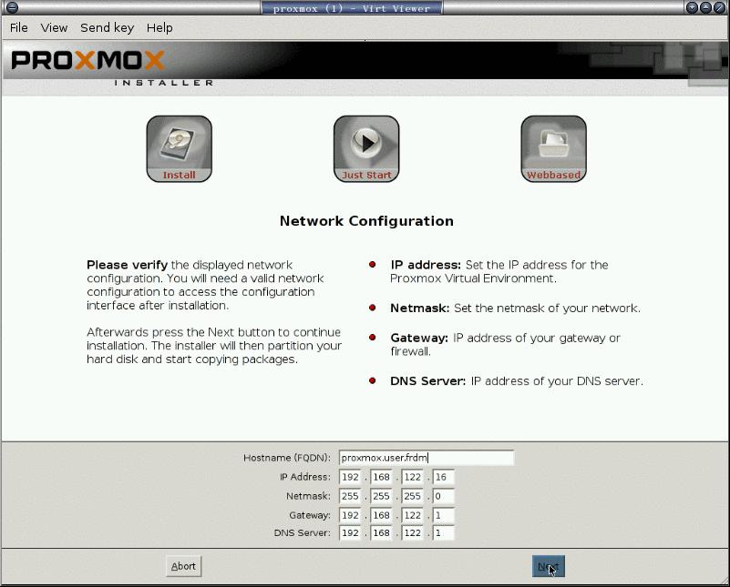 安裝 proxmox: 6. 設定 ip 位址