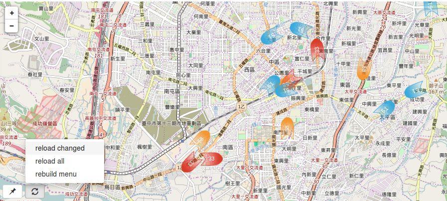 臺中公車動態地圖, 多路線版