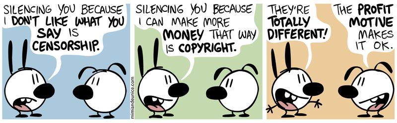 言論管制跟著作權有什麼不同?